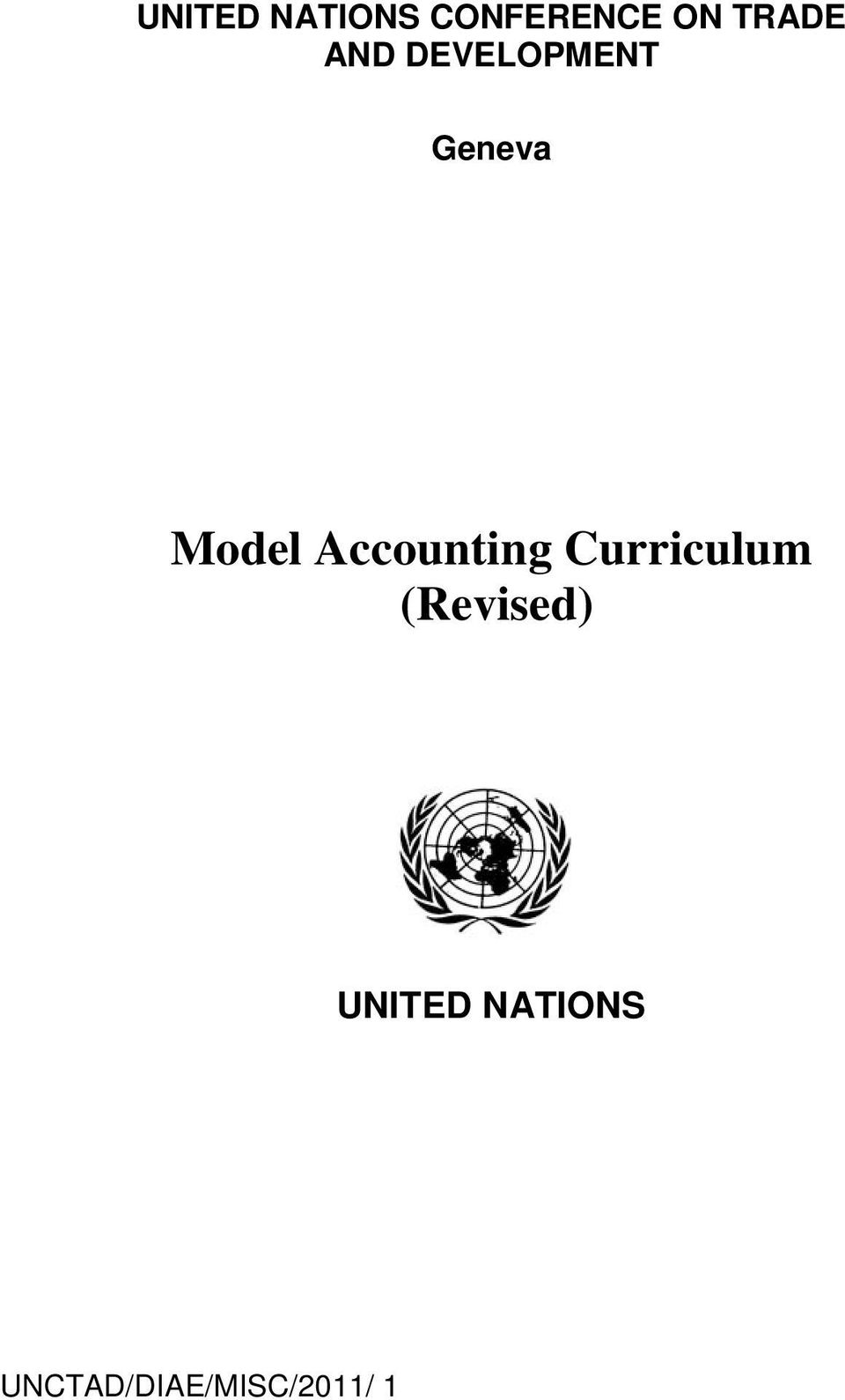 Model Accounting Curriculum