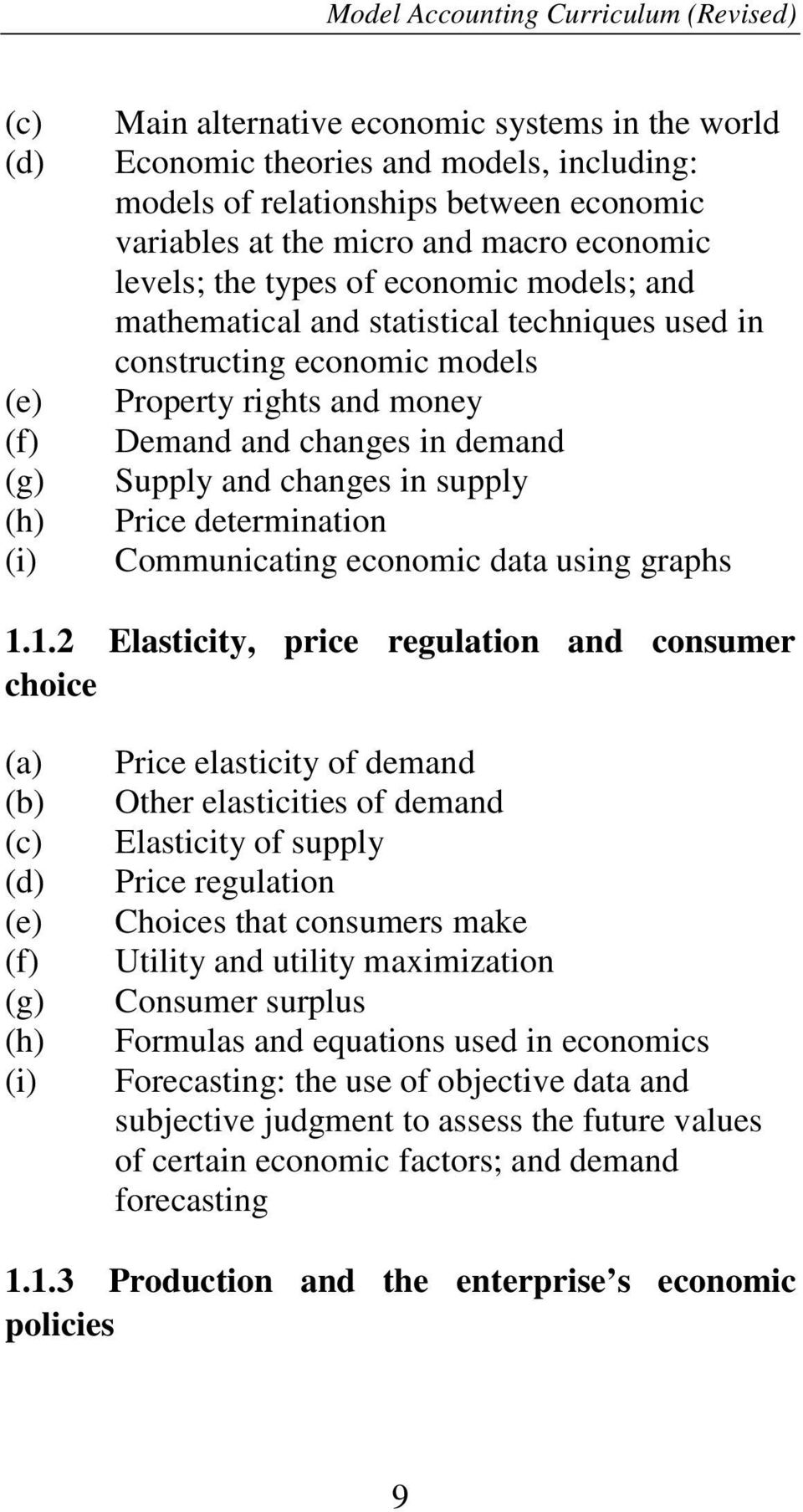demand Supply and changes in supply Price determination Communicating economic data using graphs 1.