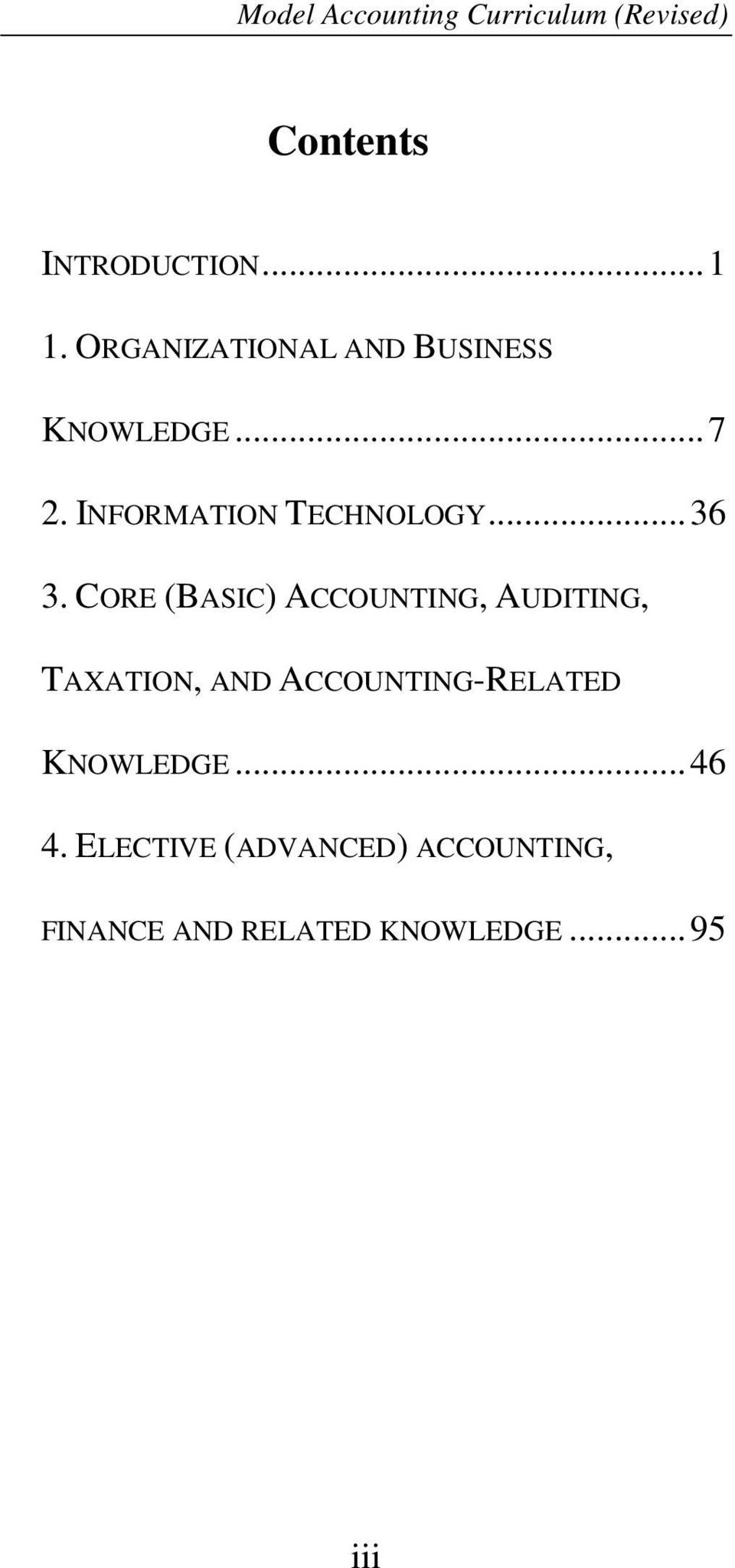 CORE (BASIC) ACCOUNTING, AUDITING, TAXATION, AND ACCOUNTING-RELATED