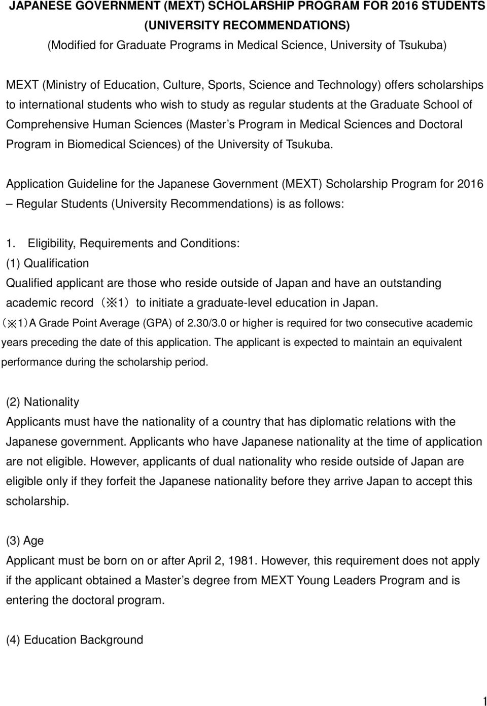 in Medical Sciences and Doctoral Program in Biomedical Sciences) of the University of Tsukuba.