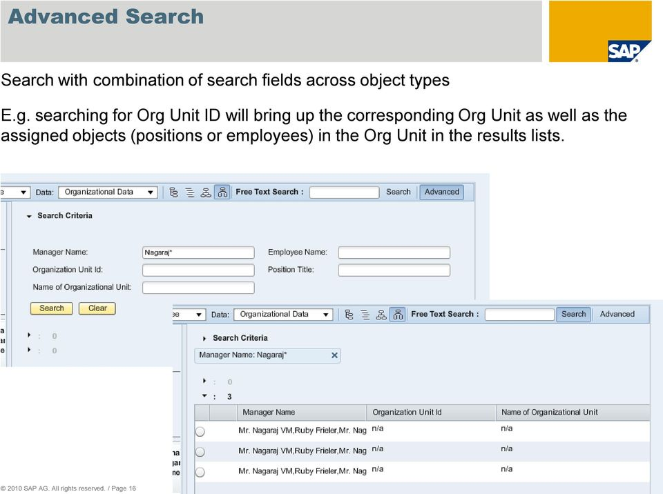 searching for Org Unit ID will bring up the corresponding Org Unit as