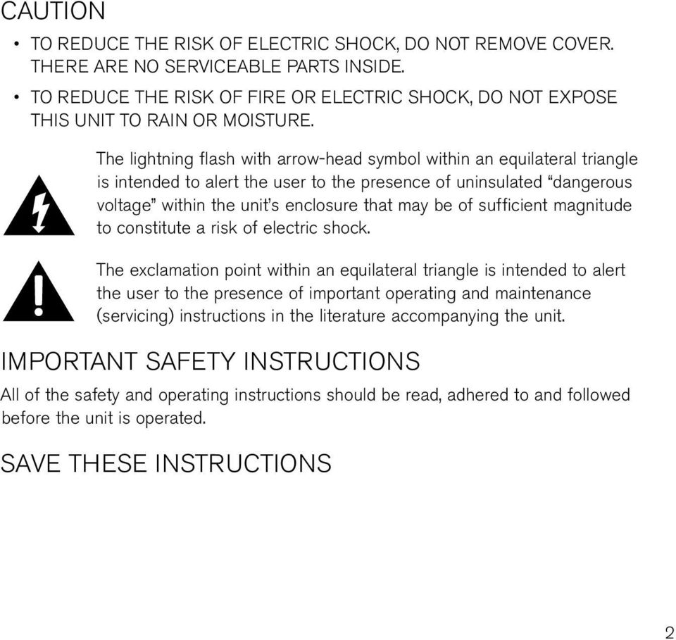 sufficient magnitude to constitute a risk of electric shock.