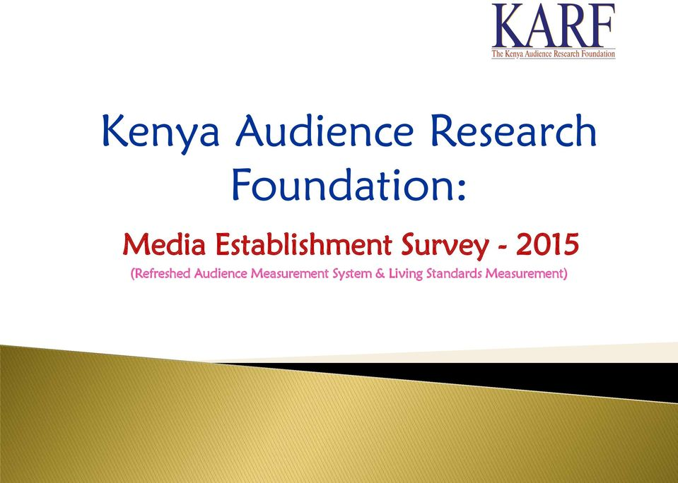 Survey - 2015 (Refreshed Audience