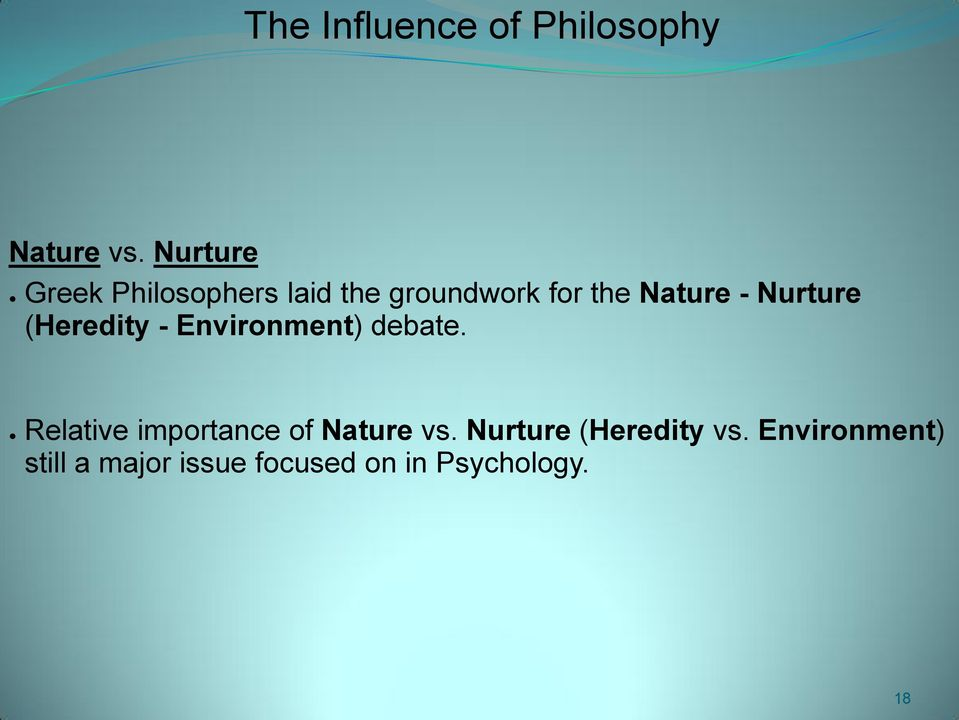 influences of nature essay