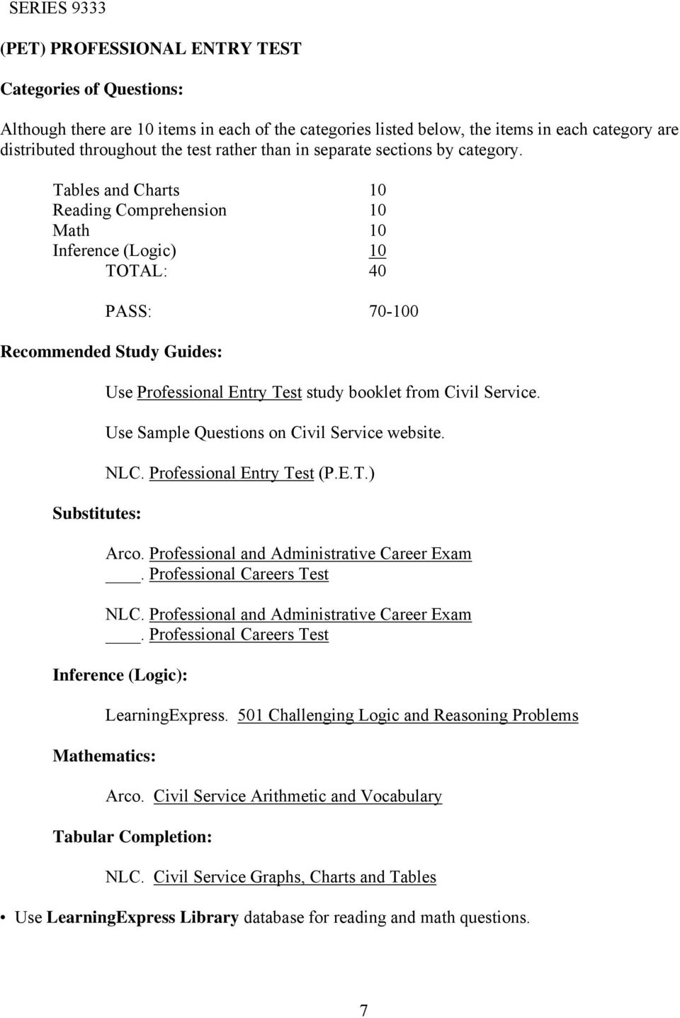 Study Guides and Exam Preparation - CivilService