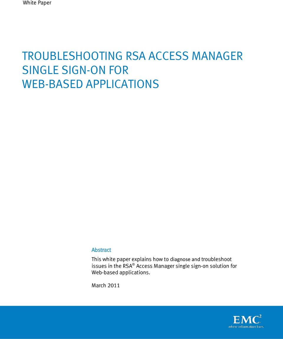 how to diagnose and troubleshoot issues in the RSA Access