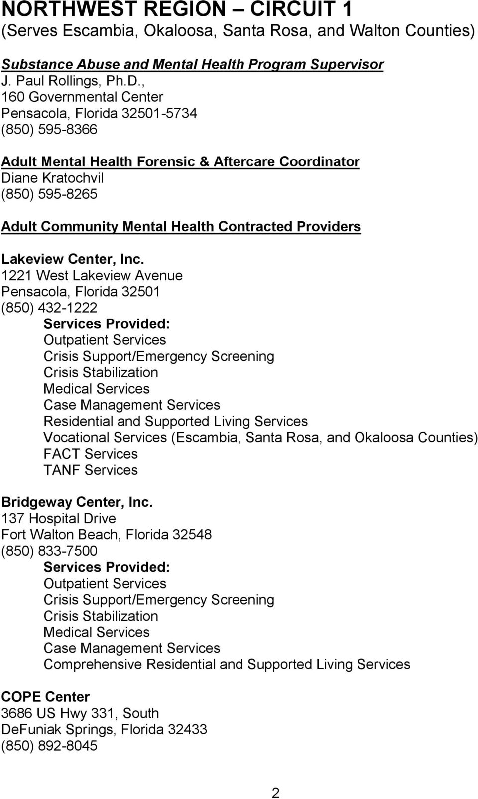Providers Lakeview Center, Inc.