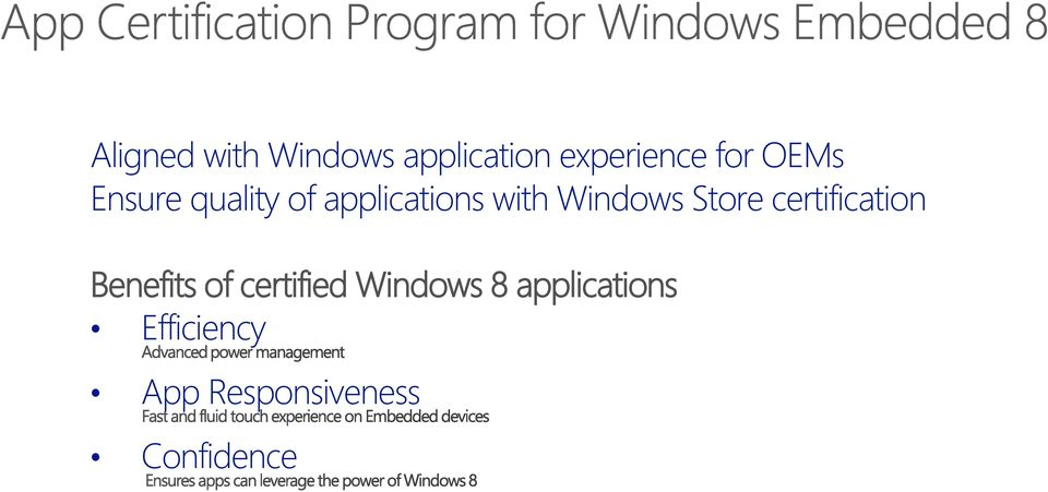Store certification Benefits of certified Windows