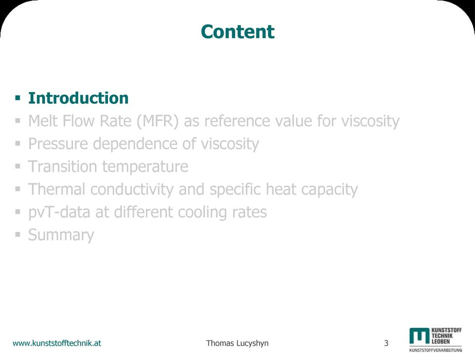 Thermal conductivity and specific heat capacity pvt-data at