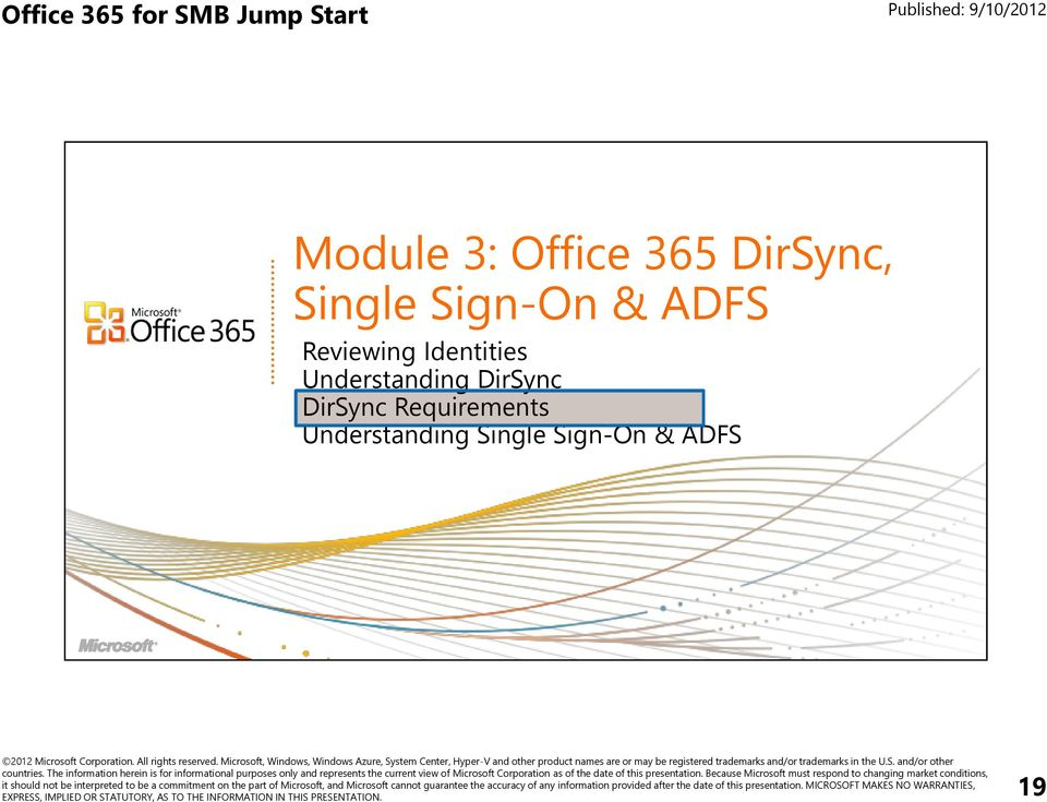 Mod 3 office 365 dirsync single sign on adfs pdf - Single sign on with office 365 ...