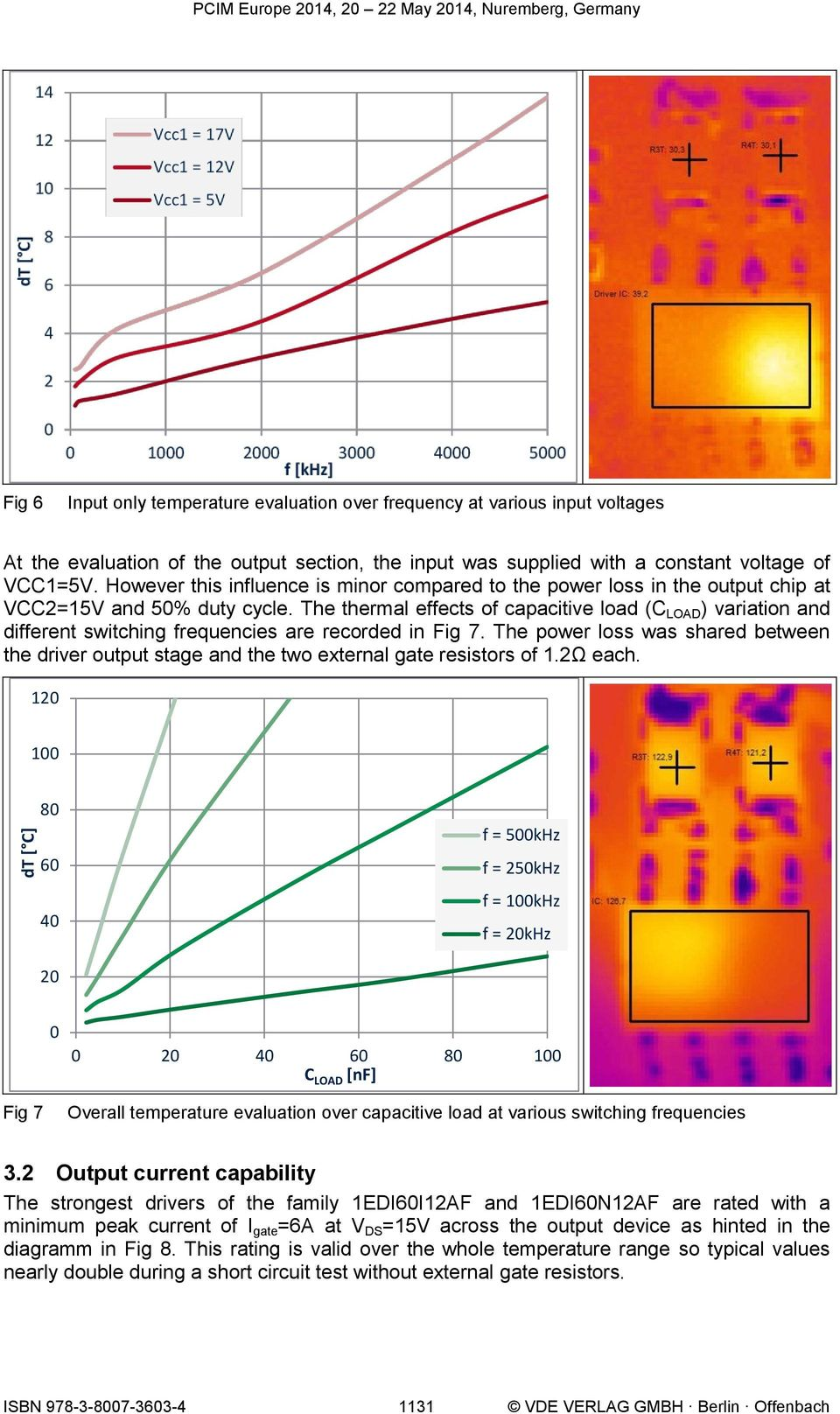 The thermal effects of capacitive load (C LOAD ) variation and different switching frequencies are recorded in Fig 7.