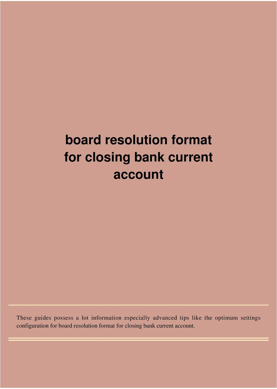Board resolution format for closing bank current account pdf transcription spiritdancerdesigns Images