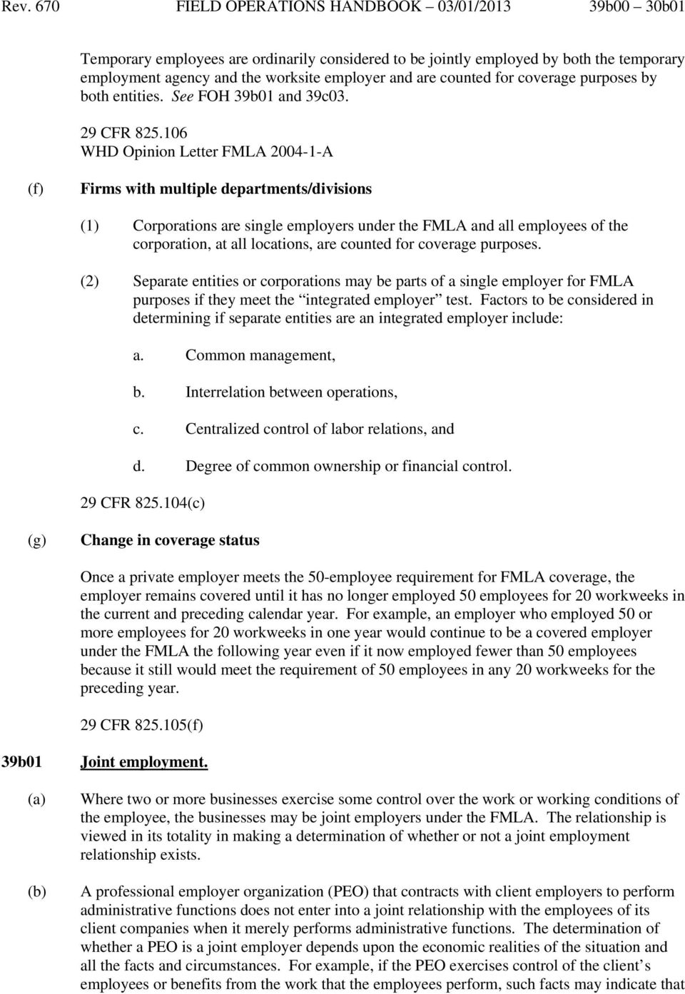 fmla and joint employment relationship