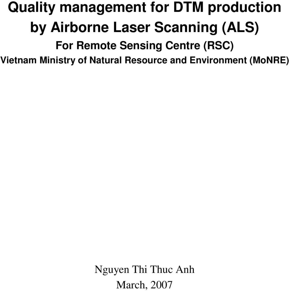 Centre (RSC) Vietnam Ministry of Natural