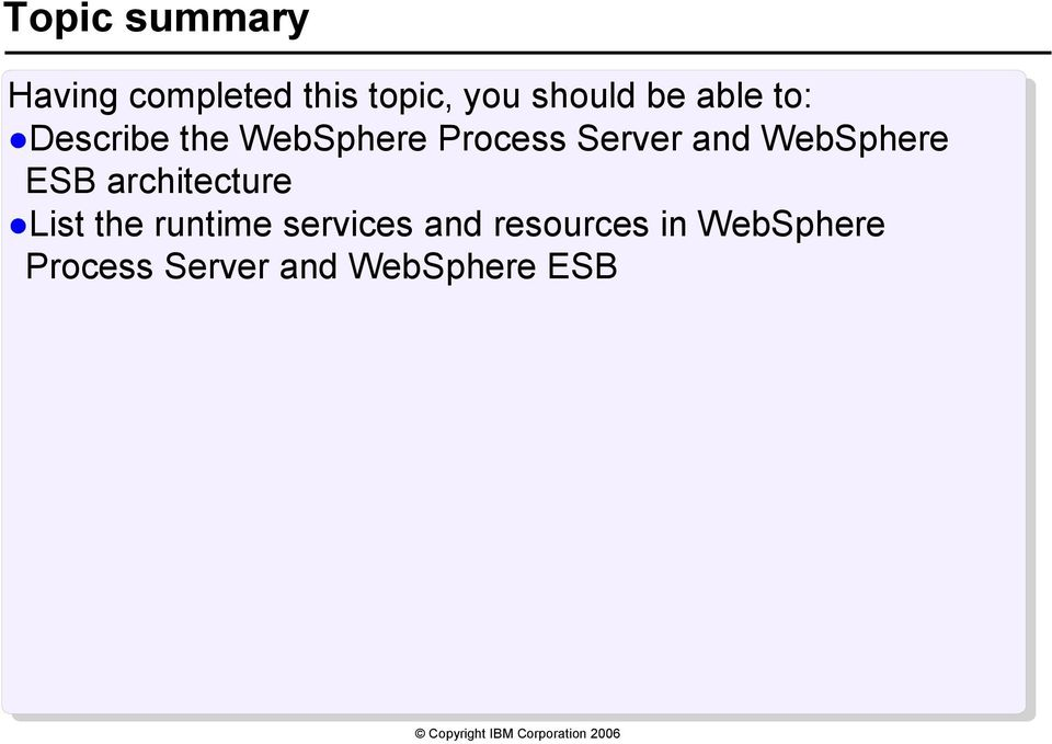 WebSphere ESB architecture List the runtime services