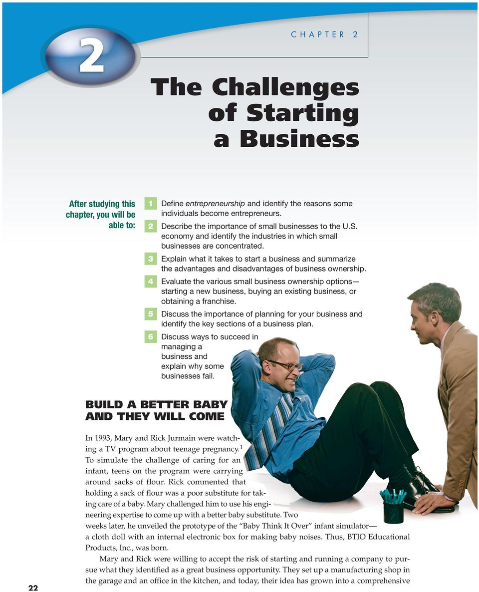 3 Explain what it takes to start a business and summarize the advantages and disadvantages of business ownership.