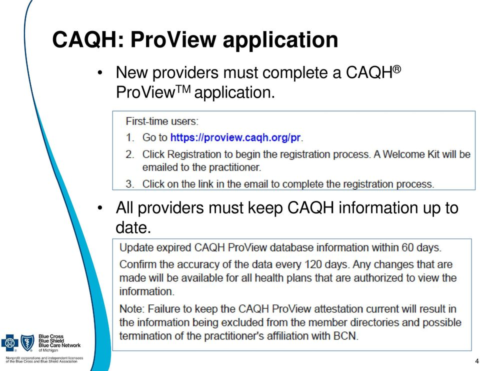ProView TM application.