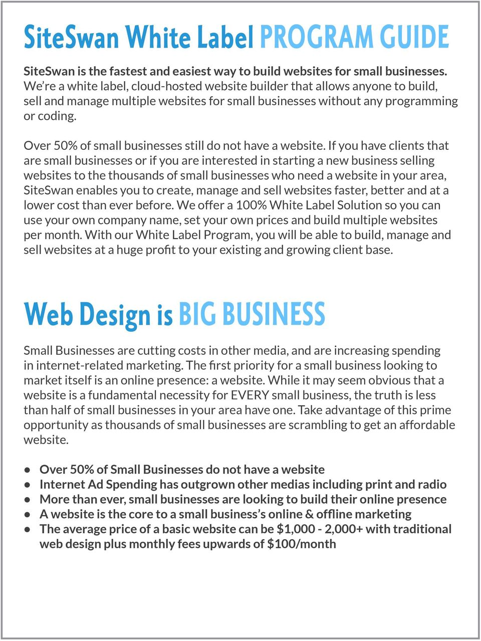 Over 50% of small businesses still do not have a website.
