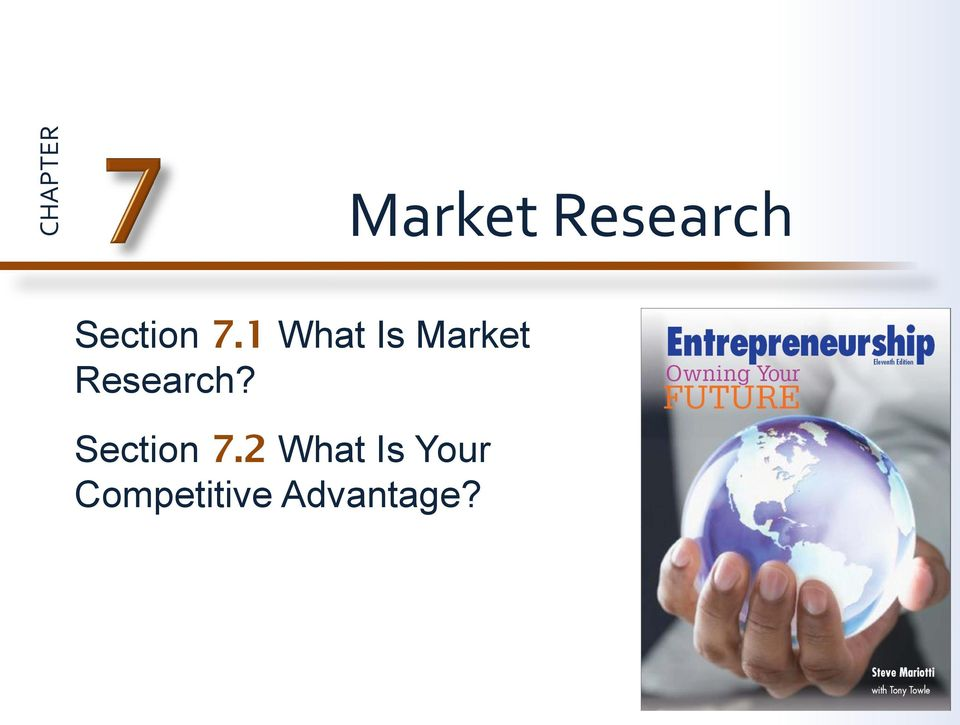 1 What Is Market Research?