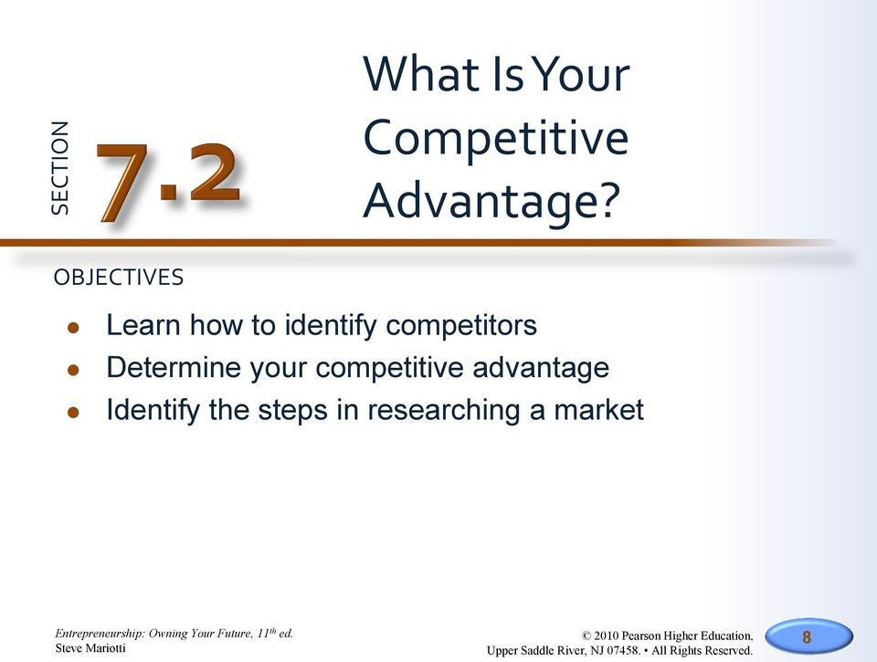 competitors Determine your competitive