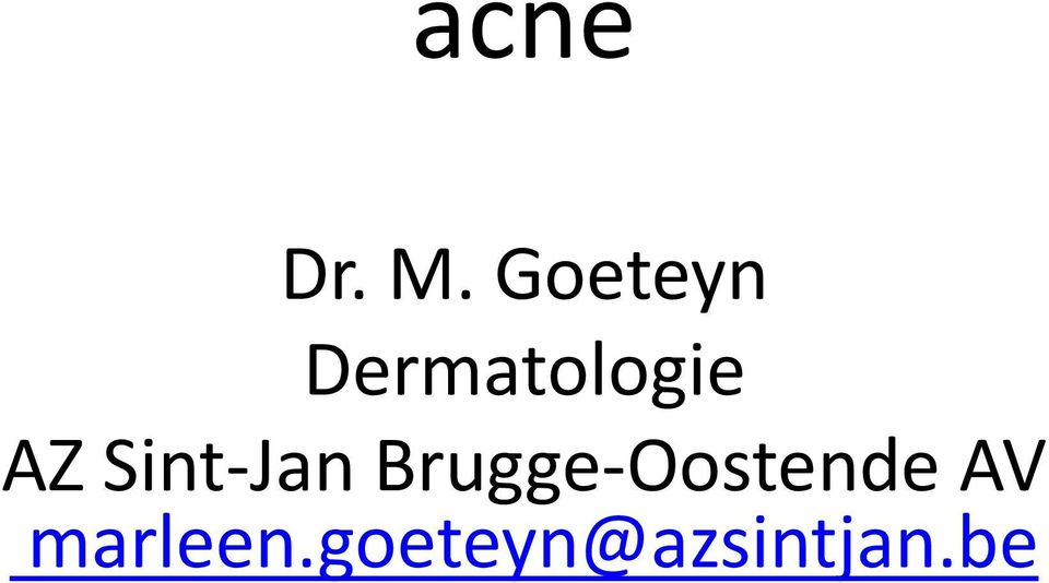 Thesis on acne treatment