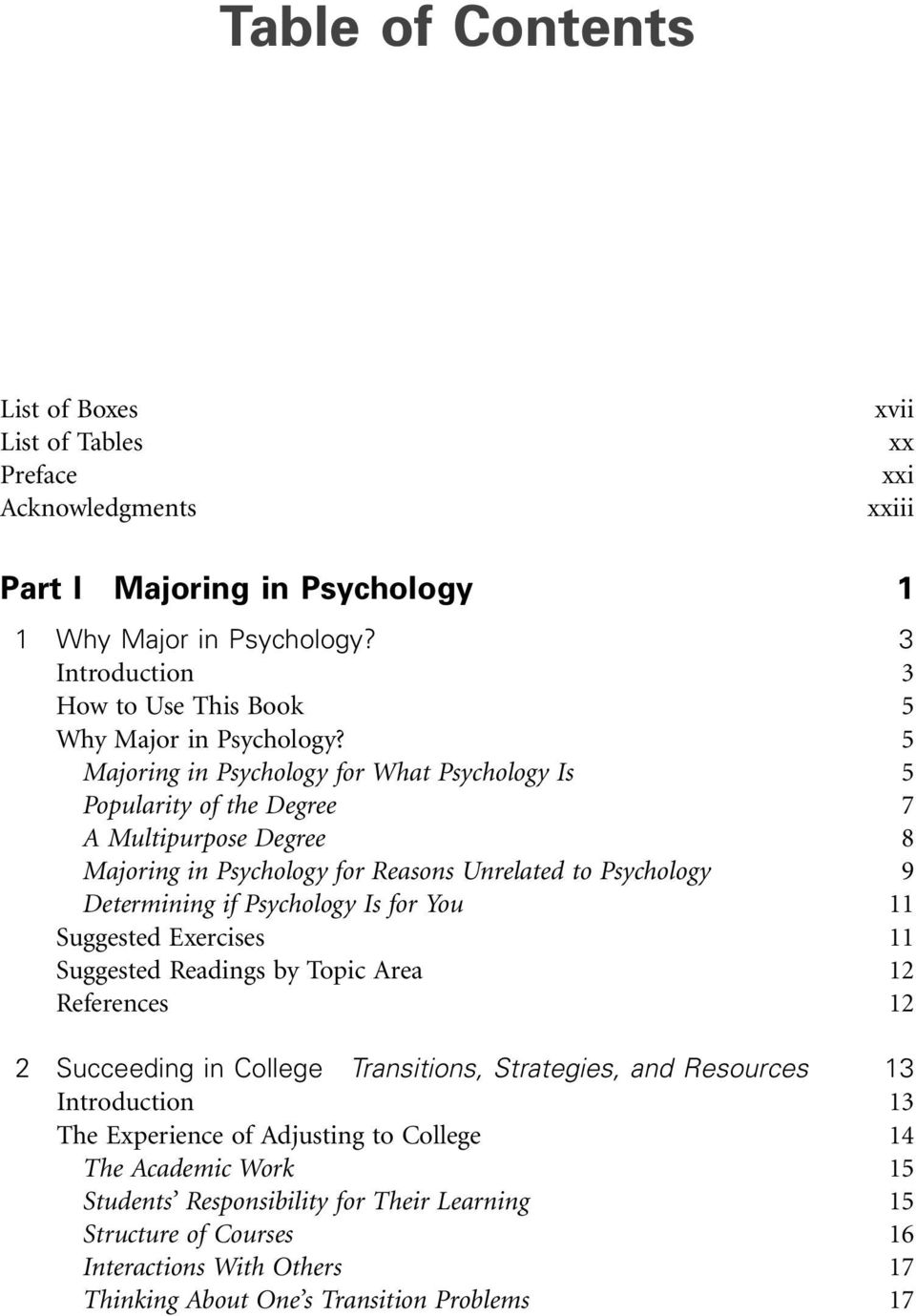 5 Majoring in Psychology for What Psychology Is 5 Popularity of the Degree 7 A Multipurpose Degree 8 Majoring in Psychology for Reasons Unrelated to Psychology 9 Determining if Psychology Is