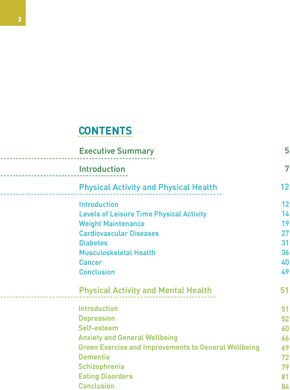 Activity and Mental Health Introduction Depression Self-esteem Anxiety and General Wellbeing Green Exercise and