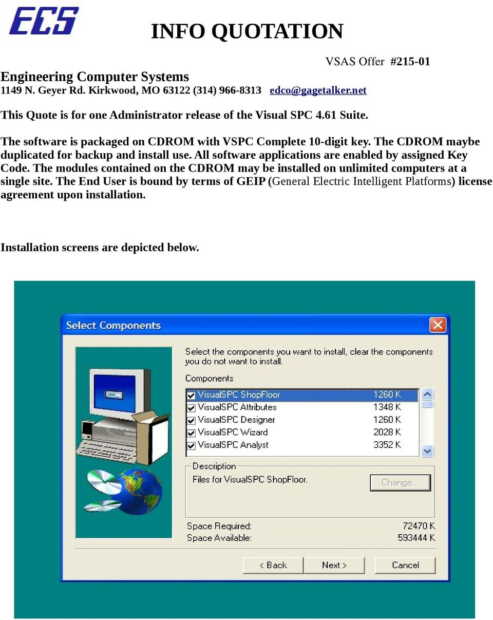The CDROM maybe duplicated for backup and install use. All software applications are enabled by assigned Key Code.
