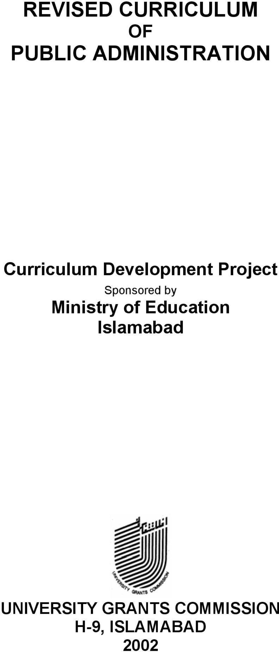 Project Sponsored by Ministry of