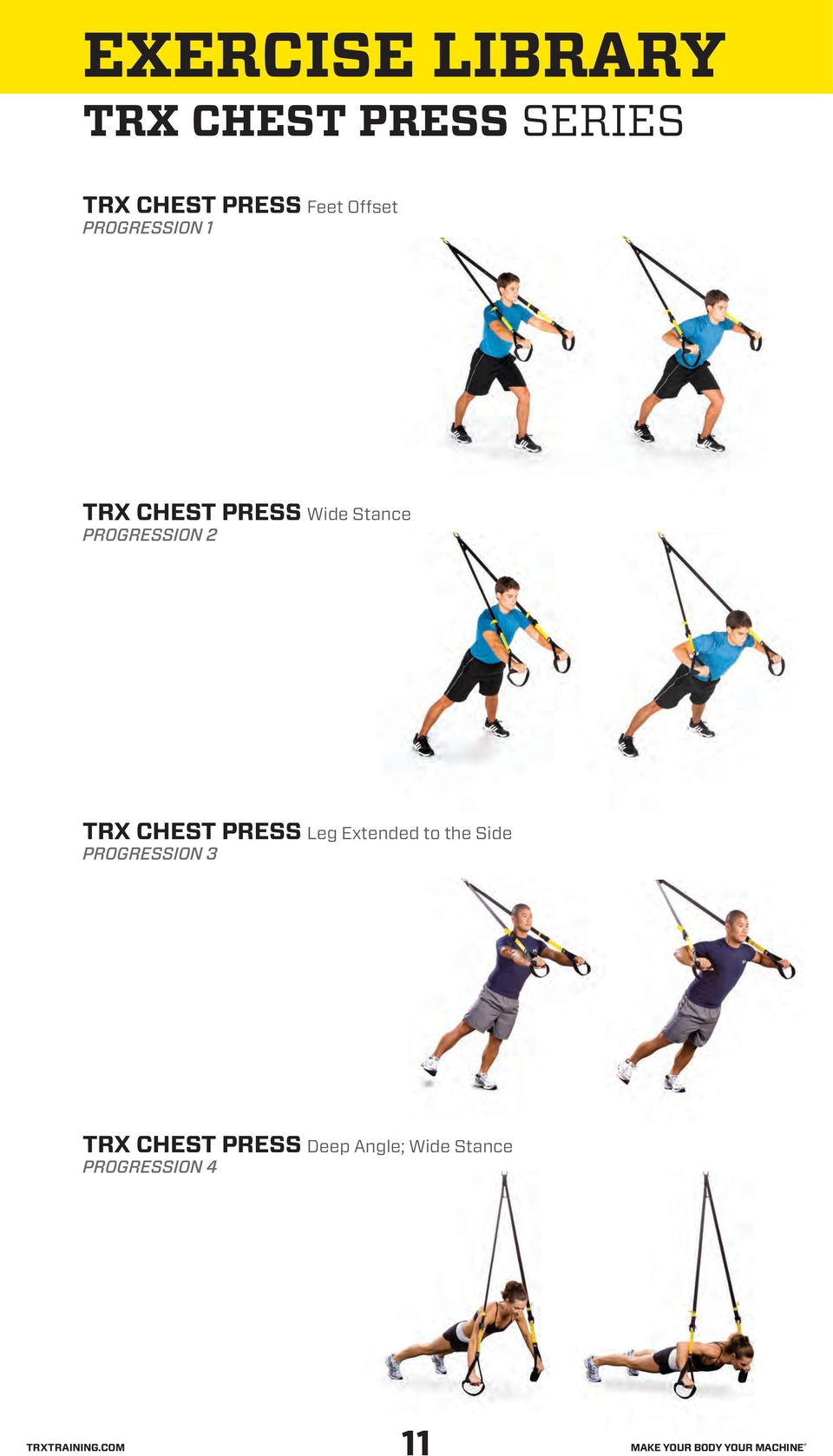CHEST PRESS Leg Extended to the Side TRX
