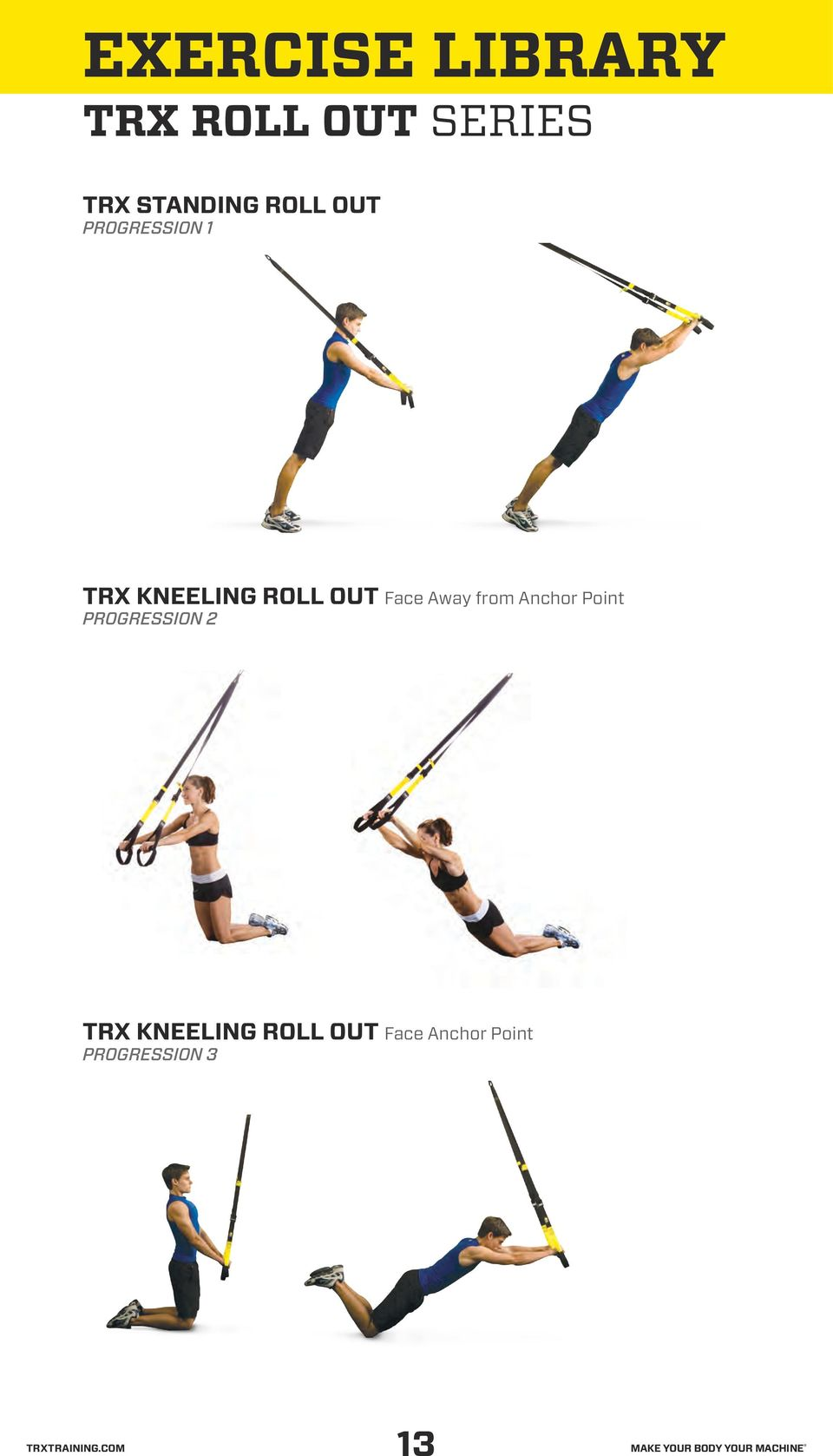 Face Away from Anchor Point TRX