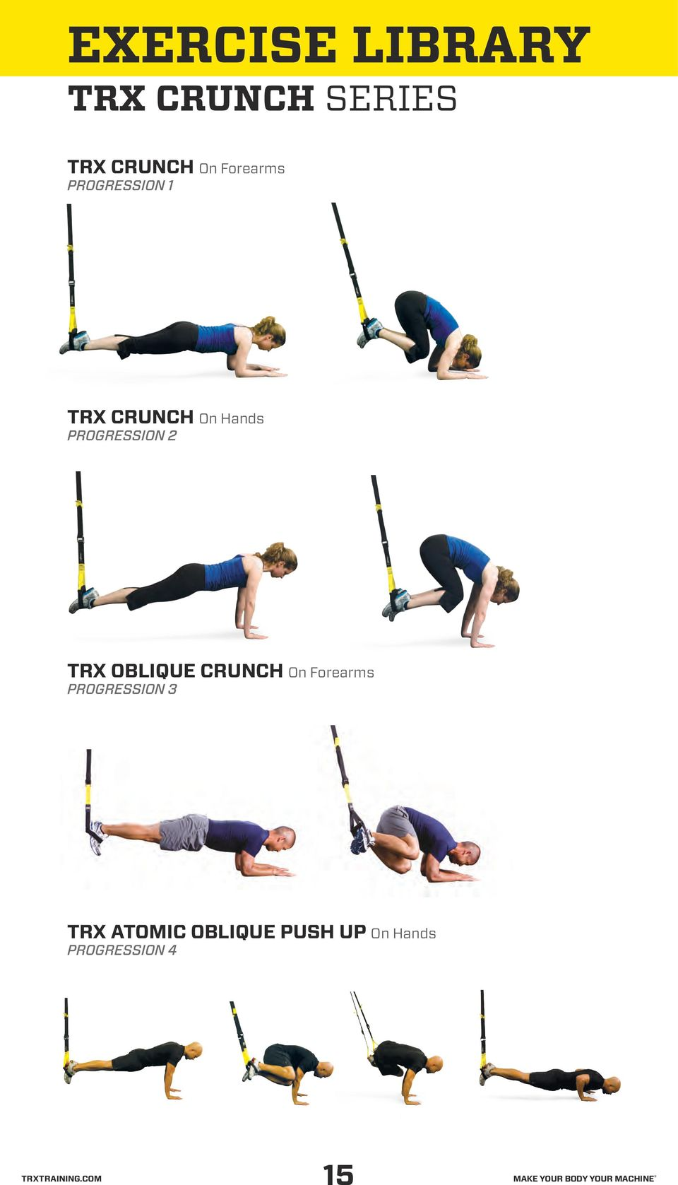 OBLIQUE CRUNCH On Forearms TRX