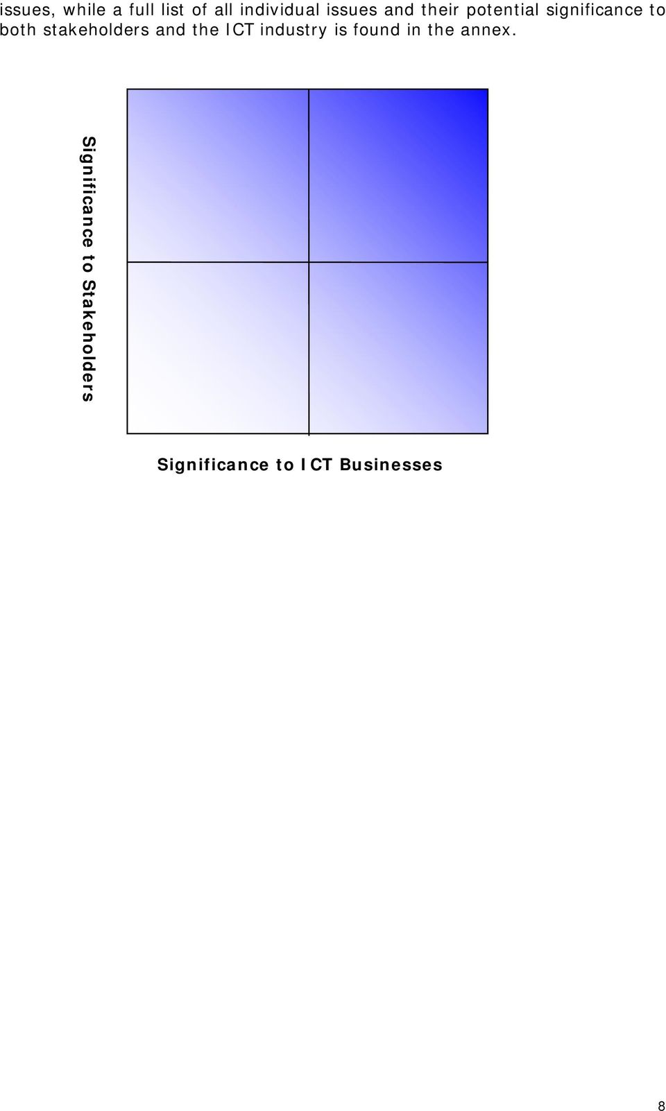 stakeholders and the ICT industry is found in the