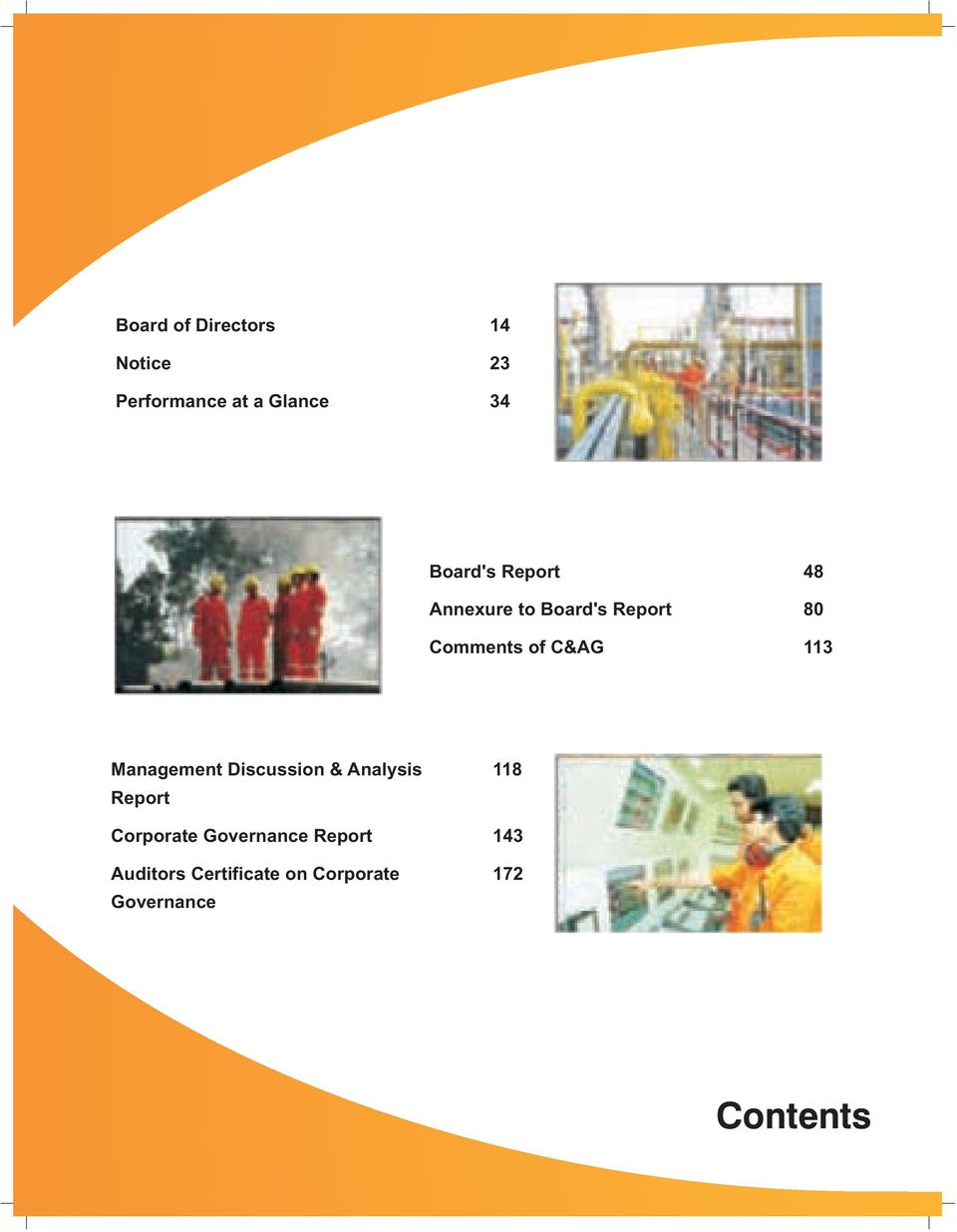 113 Management Discussion & Analysis 118 Report Corporate