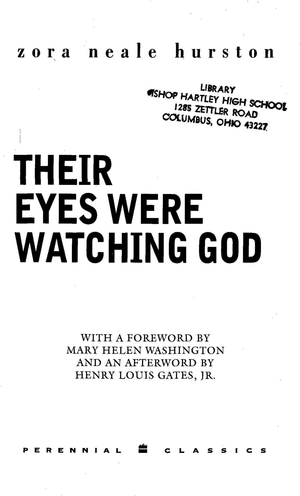 WATCHING GOD WITH A FOREWORD BY MARY HELEN WASHINGTON