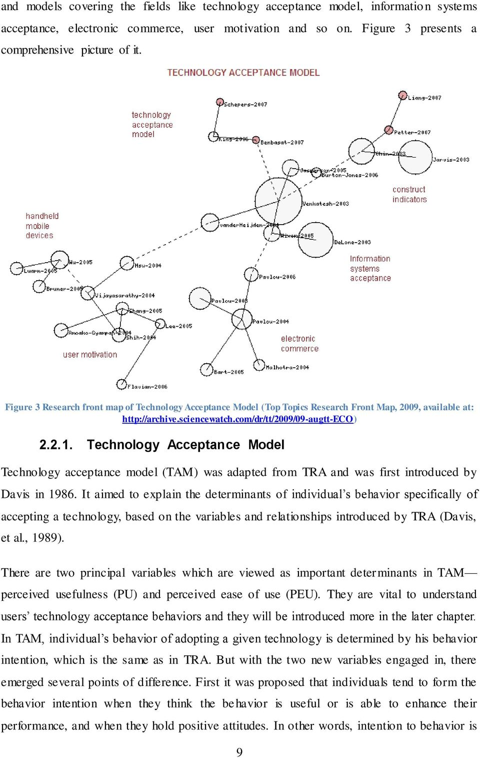 Technology Acceptance Model Technology acceptance model (TAM) was adapted from TRA and was first introduced by Davis in 1986.