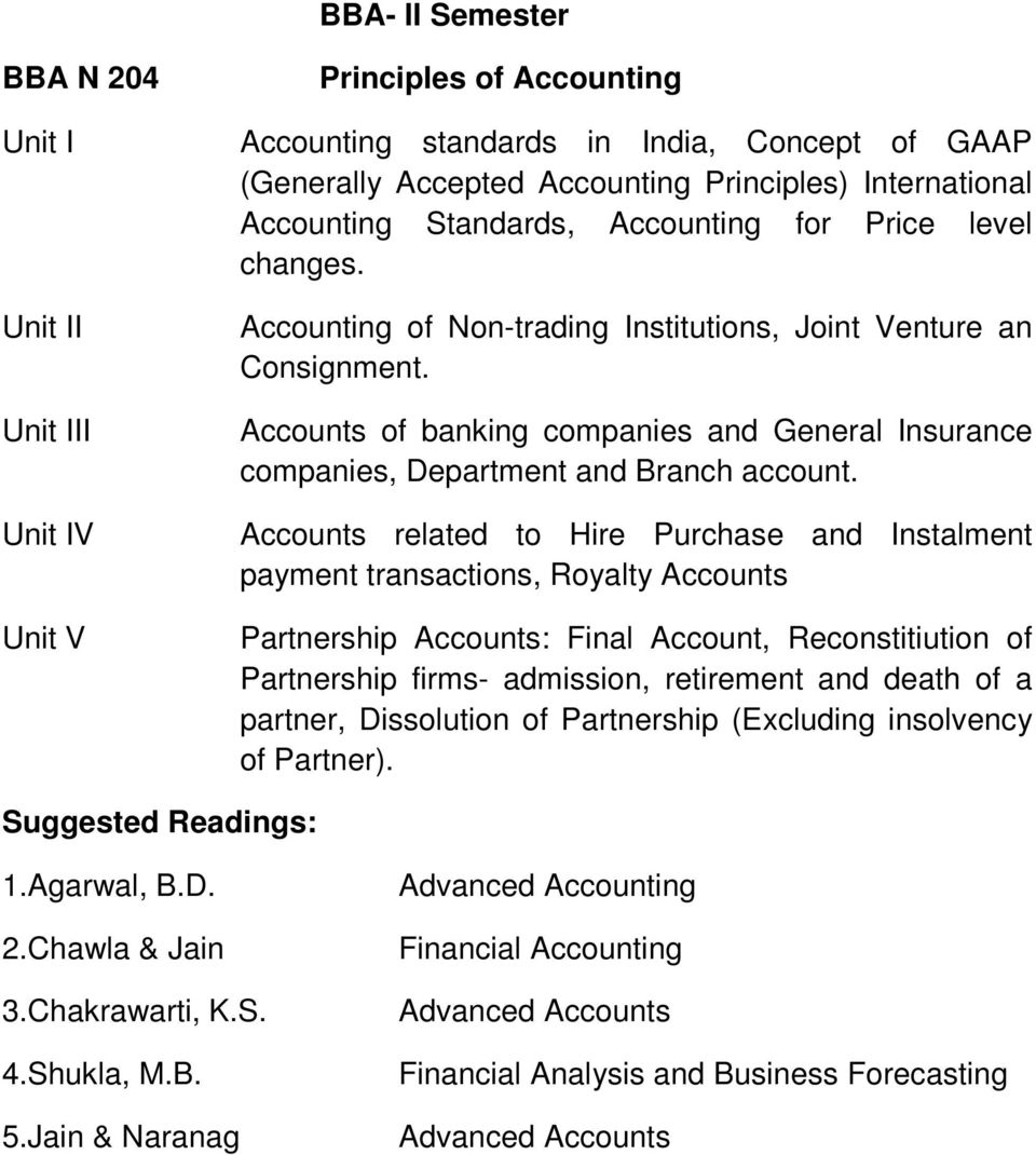 Accounts related to Hire Purchase and Instalment payment transactions, Royalty Accounts Partnership Accounts: Final Account, Reconstitiution of Partnership firms- admission, retirement and death of a