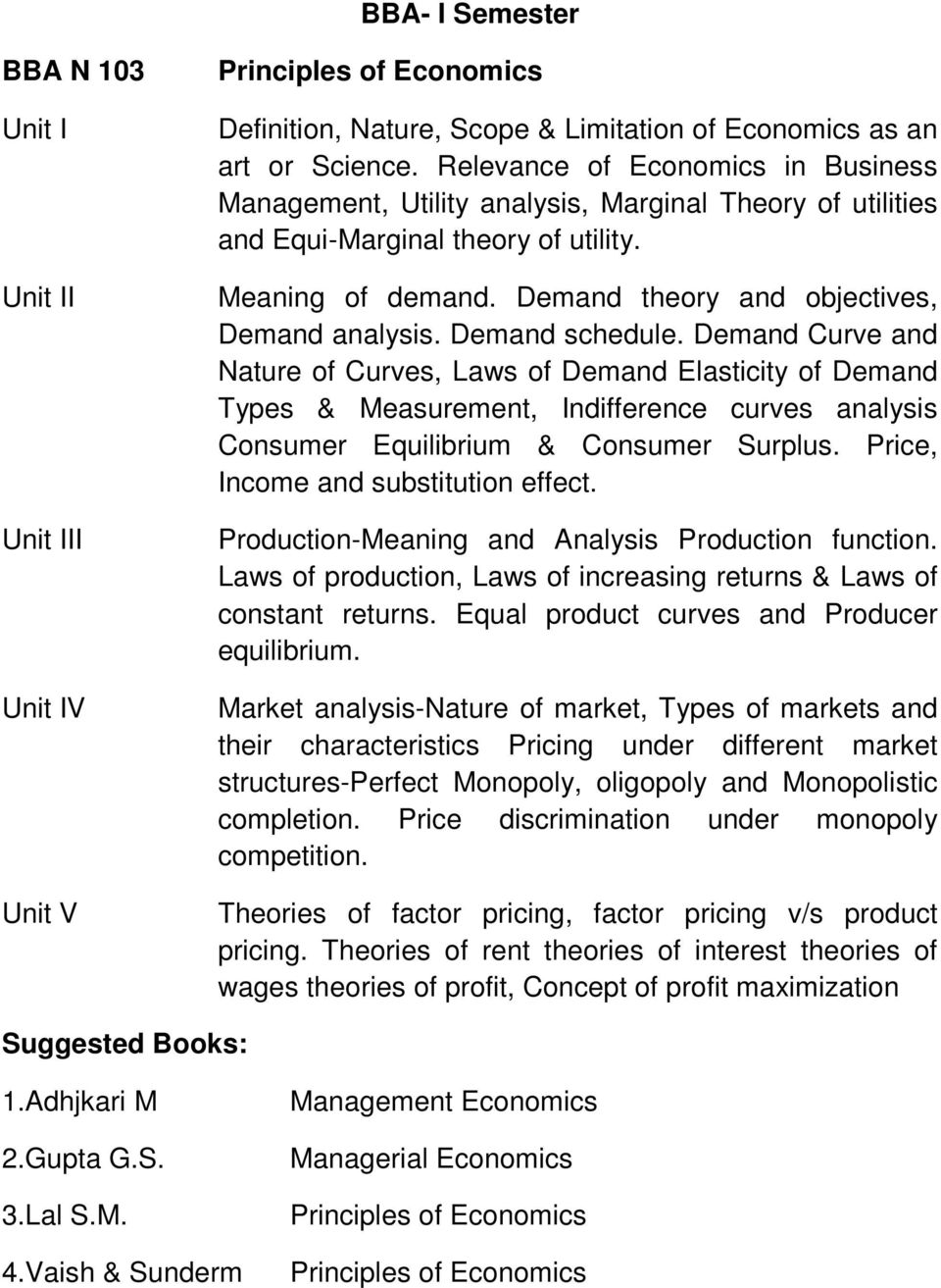 Demand schedule. Demand Curve and Nature of Curves, Laws of Demand Elasticity of Demand Types & Measurement, Indifference curves analysis Consumer Equilibrium & Consumer Surplus.