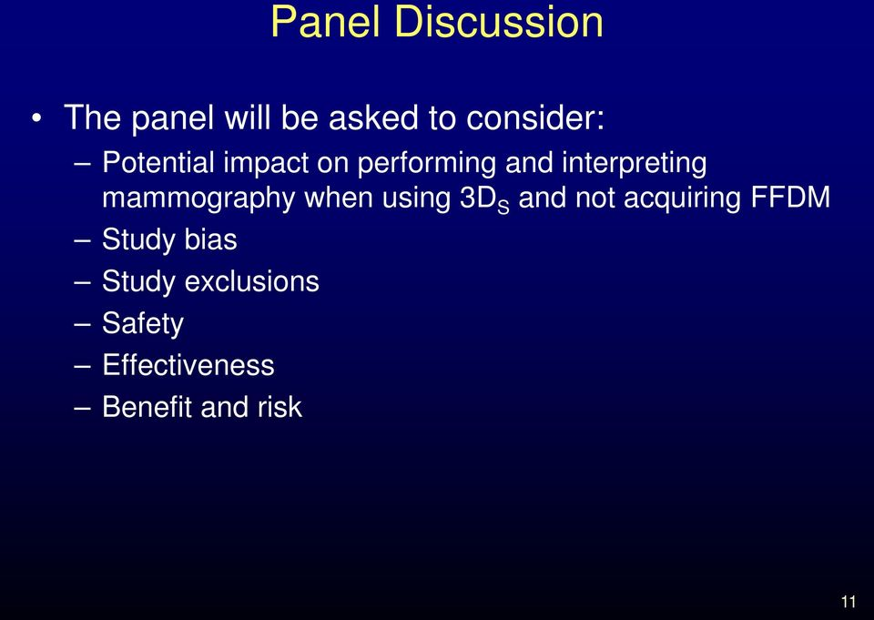 mammography when using 3D S and not acquiring FFDM