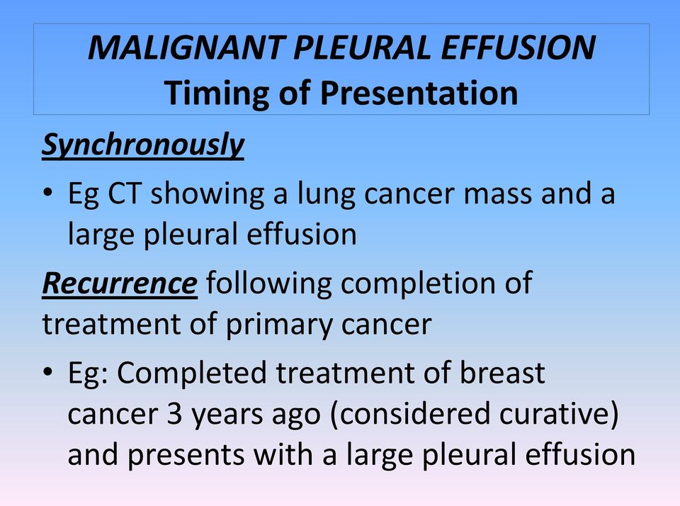 treatment of primary cancer Eg: Completed treatment of breast cancer