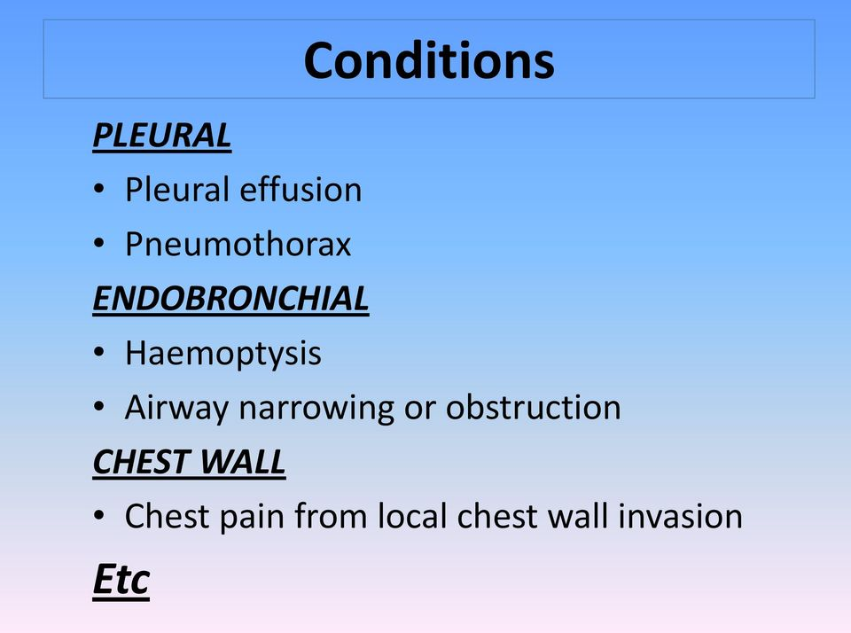 Airway narrowing or obstruction CHEST