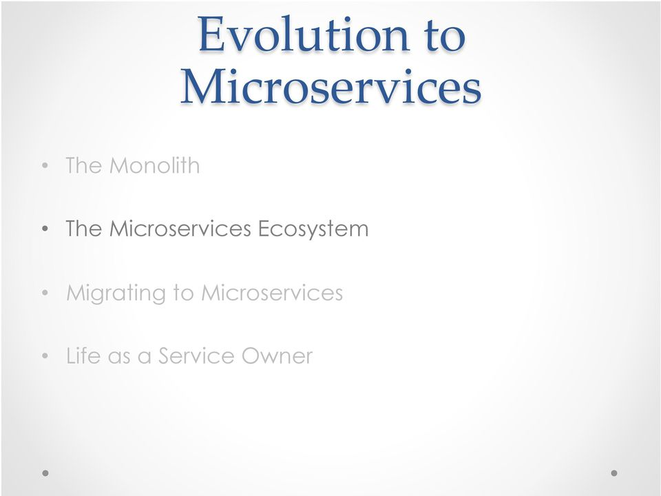 Microservices Ecosystem