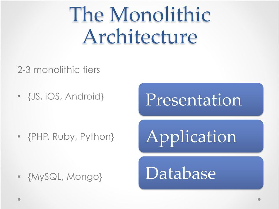 Android} Presentation {PHP, Ruby,