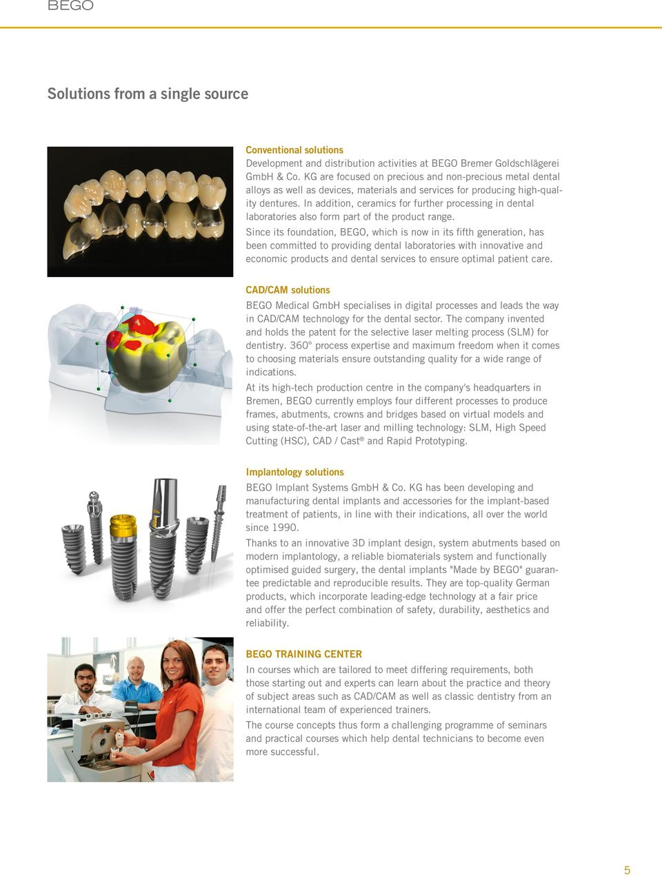 In addition, ceramics for further processing in dental laboratories also form part of the product range.