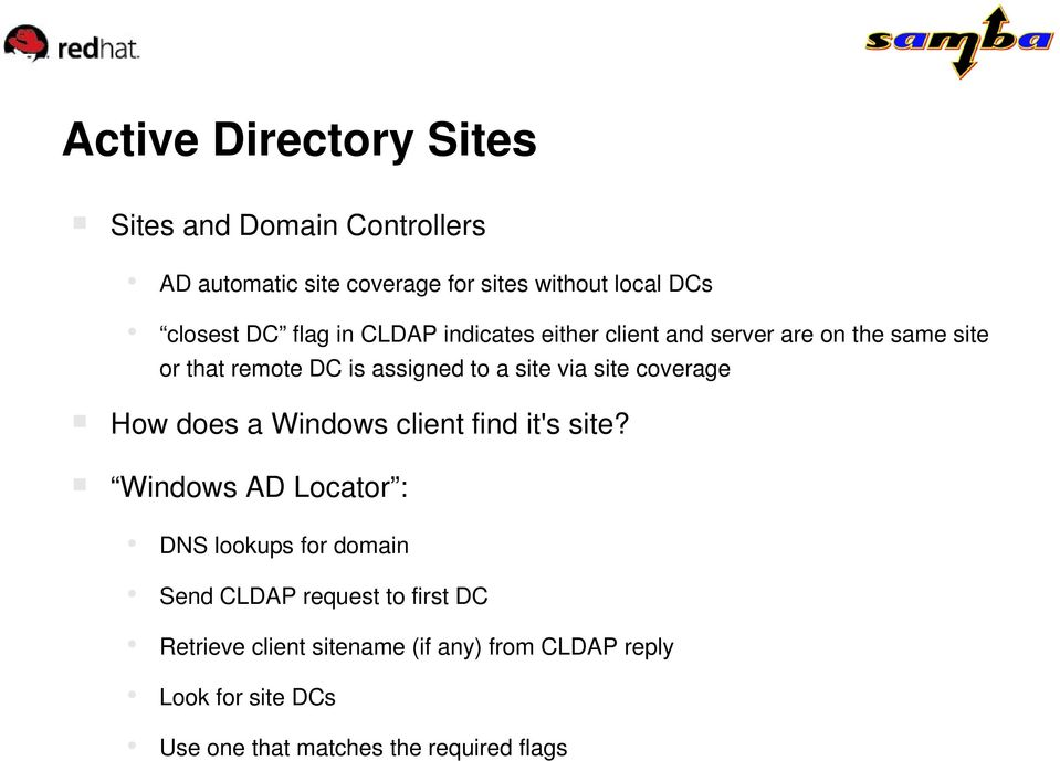 site coverage How does a Windows client find it's site?