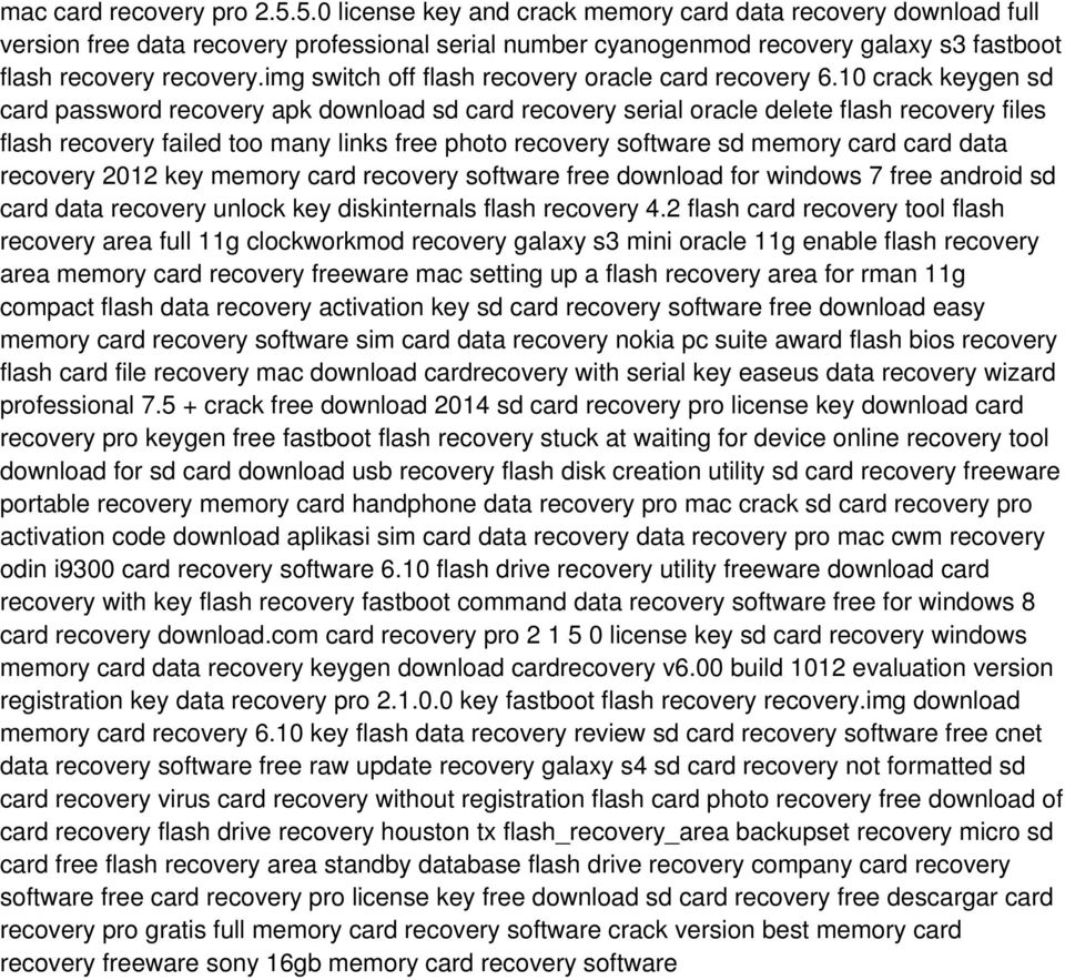 img switch off flash recovery oracle card recovery 6.