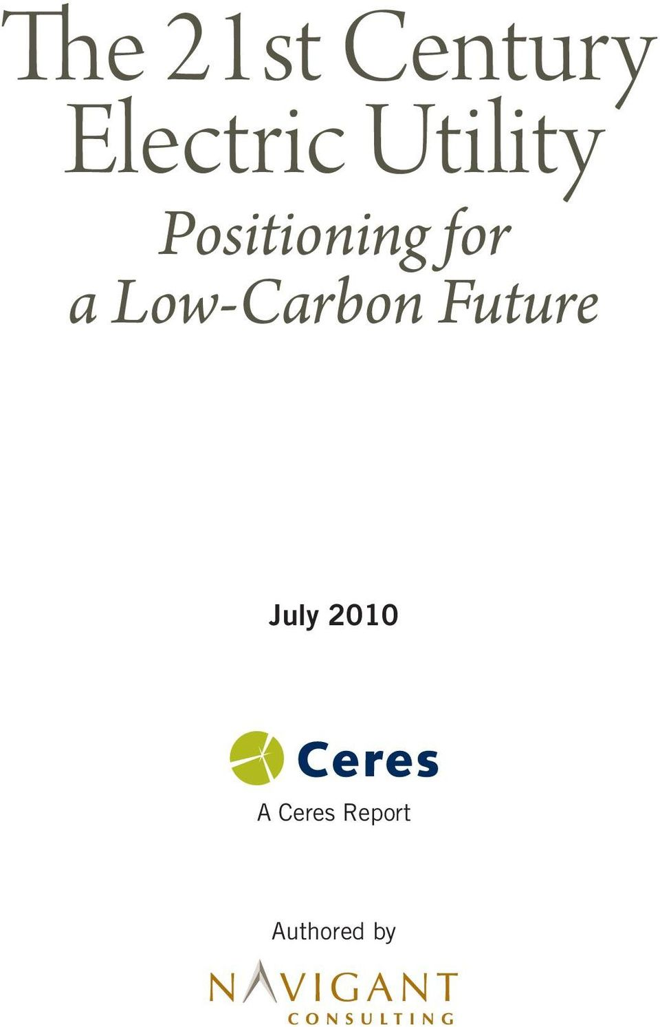 Low-Carbon Future July