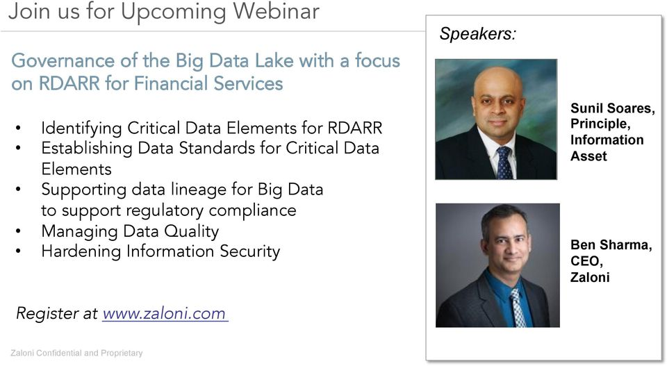 Supporting data lineage for Big Data to support regulatory compliance Managing Data Quality Hardening