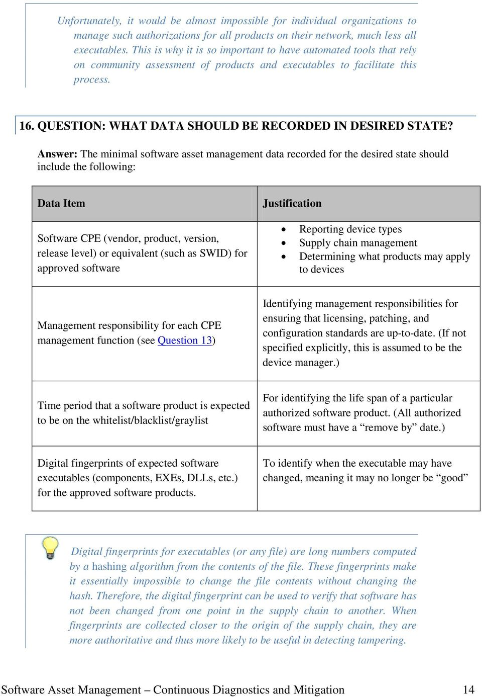 QUESTION: WHAT DATA SHOULD BE RECORDED IN DESIRED STATE?