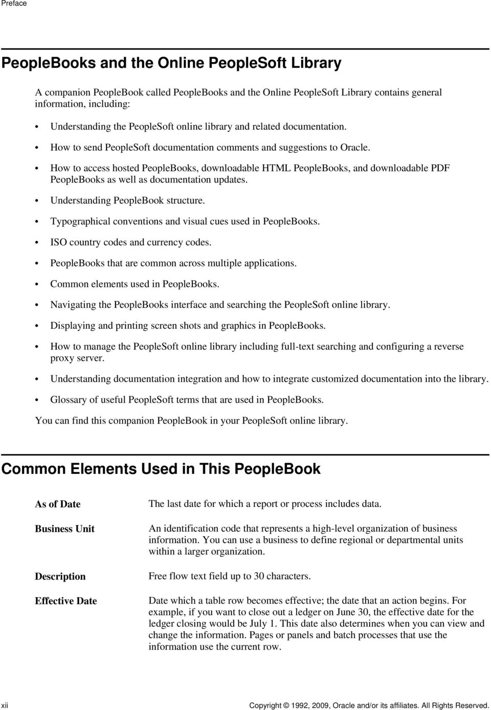 How to access hosted PeopleBooks, downloadable HTML PeopleBooks, and downloadable PDF PeopleBooks as well as documentation updates. Understanding PeopleBook structure.